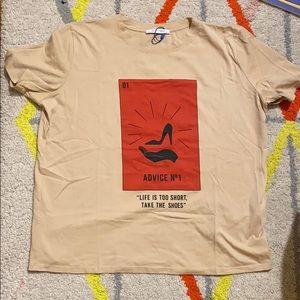Zara graphic T shirt.